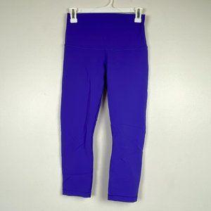 Lululemon Purple High Rise Soft Comfy Crop Legging